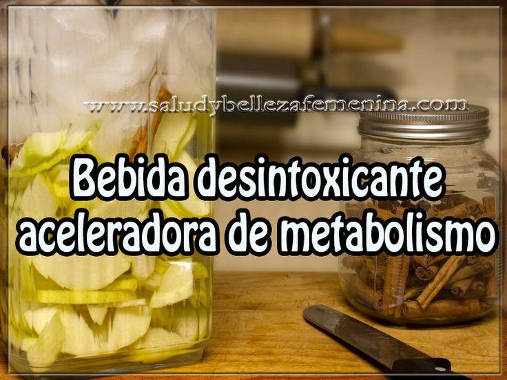 Bebida desintoxicante  aceleradora de metabolismo