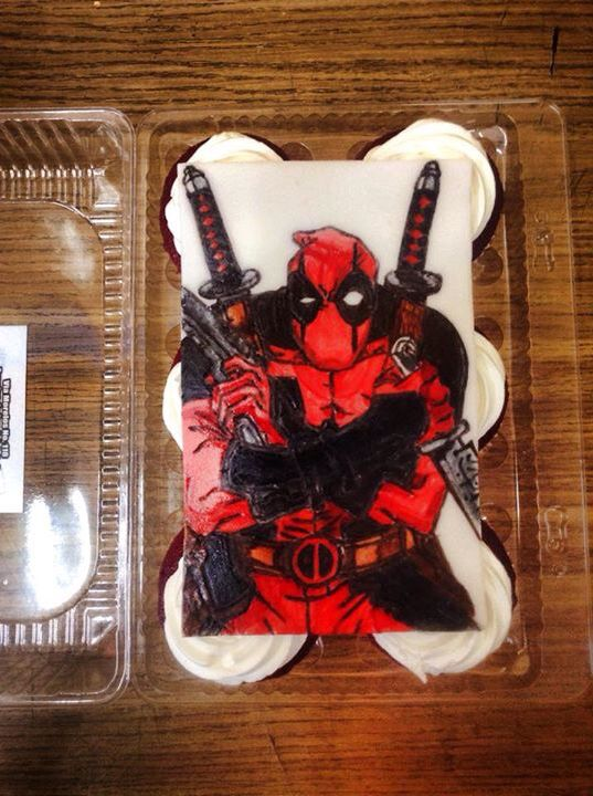 #Deadpool #Cupcakes #Style  #Chimichanga #comic #Draw #FondantArt