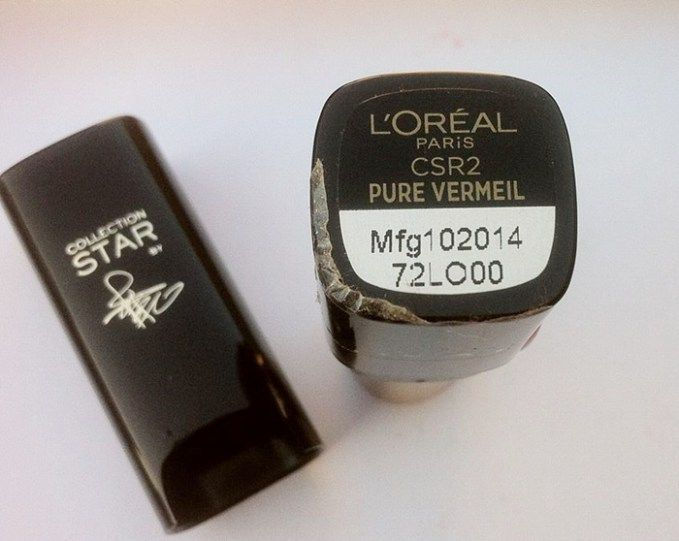 L'Oreal Pure Reds Star Lipstick Pure Vermeil