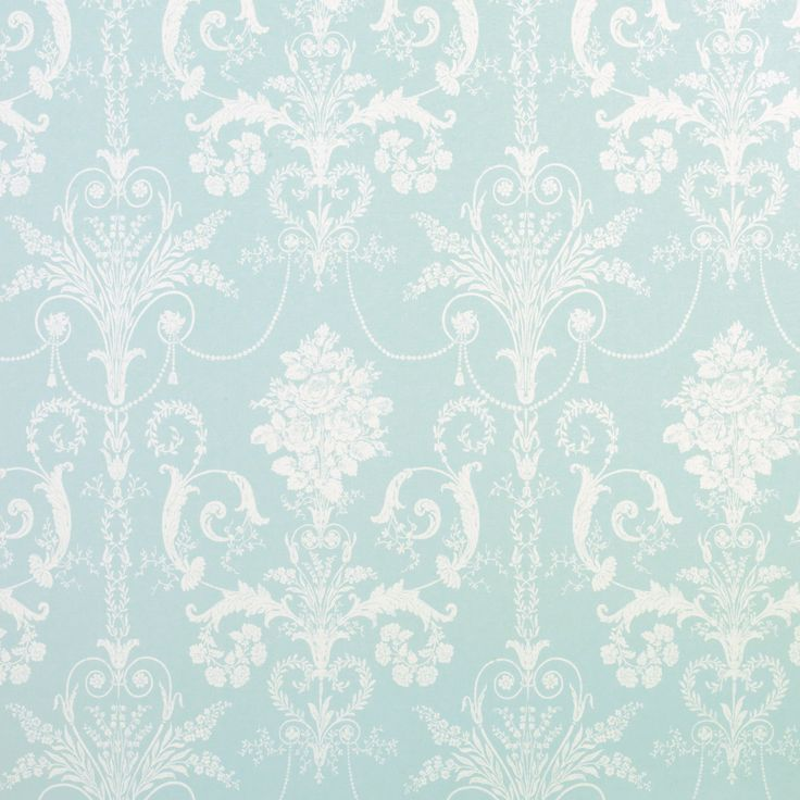 Laura Ashley … Josette Duck Egg Blue French-Inspired Damask Wallpaper .. love