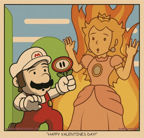 WWW.GABEDRAWS.COM | #art #illustration #mario #princess #love #valentines #video #game #nerd #geek