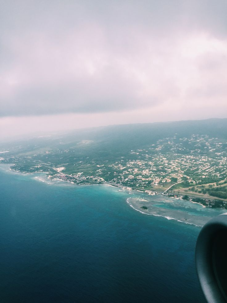 Flying over Montego Bay, Jamaica