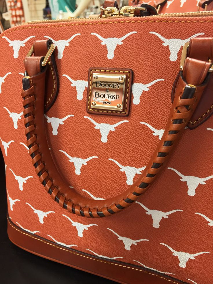 Texas Longhorn Dooney & Bourke Zip Zip Satchel now in burnt orange!  Bring this item to the Texas Exes tailgate!