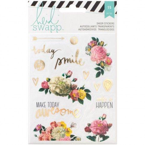 Stickers floraux Memory Planner Heidi Swapp