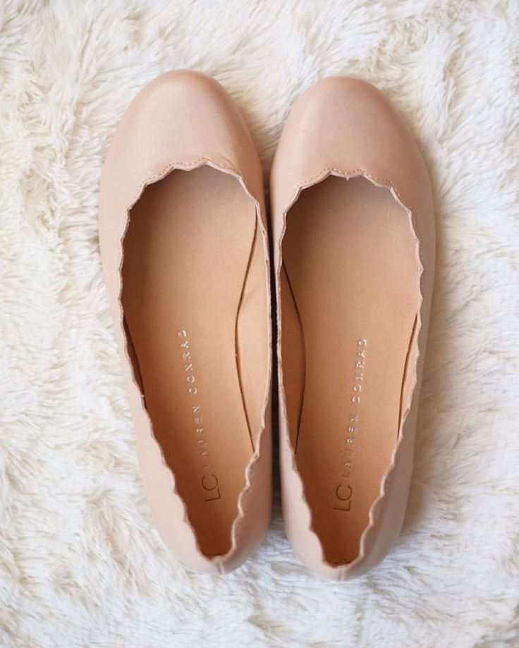 LC Lauren Conrad for Kohl's Scalloped Ballet Flats//