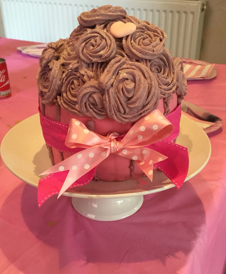 Giant cupcake - Aoife's 8th Birthday
