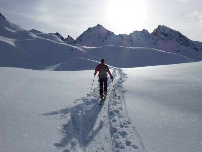 Mercredi 8 Janvier 2014, vers le sommet du Sigaro (Valgrisenche-val d'Aoste)