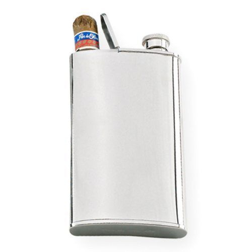 Cigar holder & flask...If I was a dude I'd want this