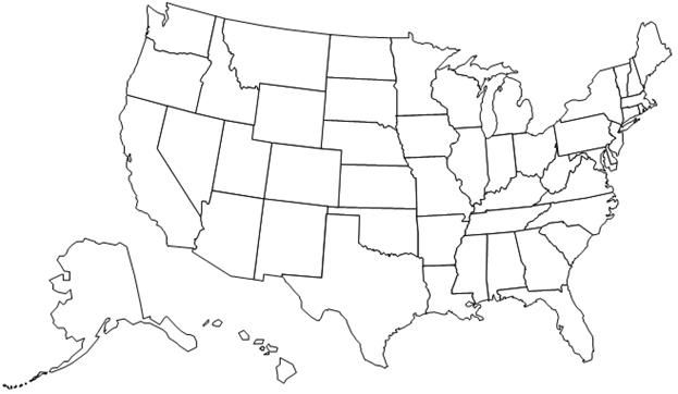 united states map without state names printable Usa States Map Without Names States Map Without Names Blank Us Map