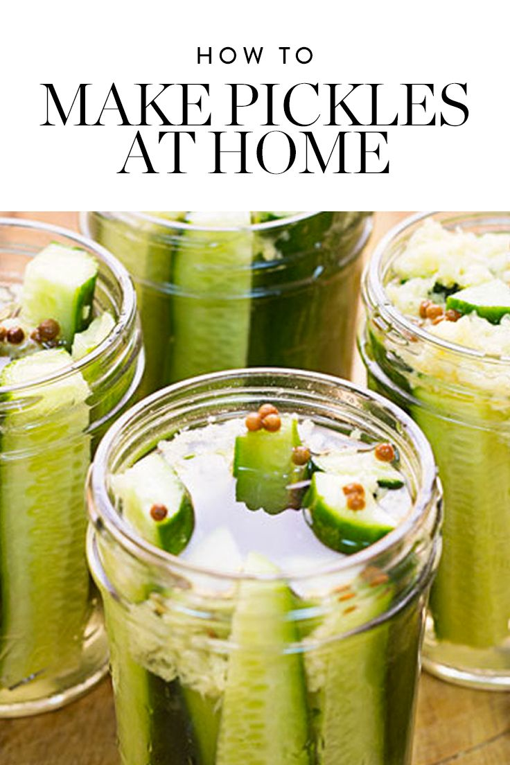 How to Make Pickles at Home (It's Easier Than You Think) via @PureWow