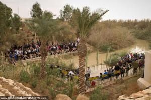 most likely spot where Jesus was baptised by John the Baptist.(Matthew, 3: 13-17).