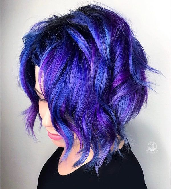 Best Short Hairstyles For Thick Hair 2019 Bold Hair Color Blue