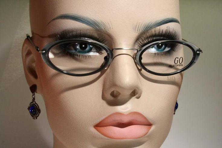 Women's Unworn GO Eyewear Oval Vintage 1990's Gunmetal Gray Lightweight Eyeglass Frames Oval … – Malen