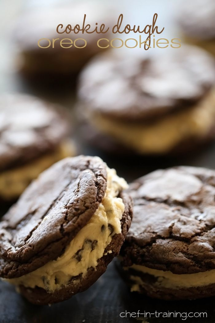Homemade Cookie Dough Oreo Cookies from chef-in-training.com ...These cookies are one of the most incredible desserts you will ever eat!