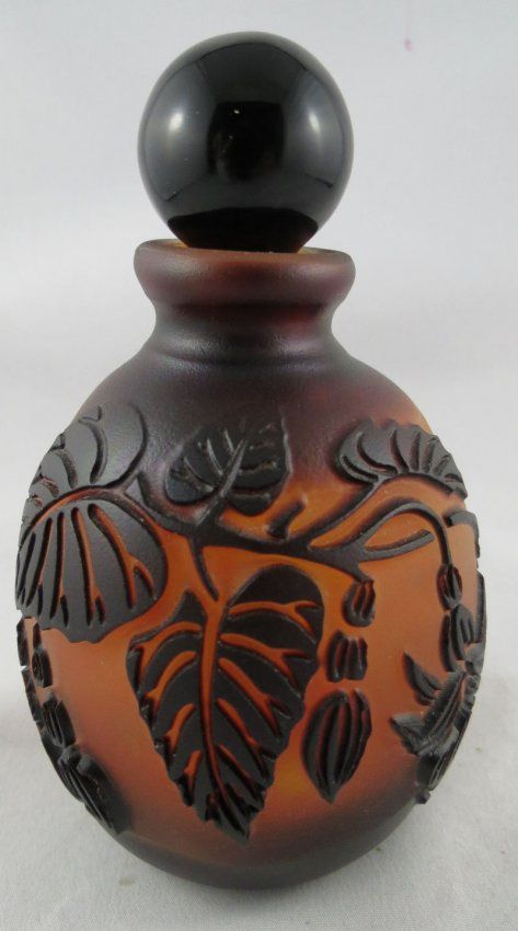After Galle Art Nouveau Cameo Perfume Bottle