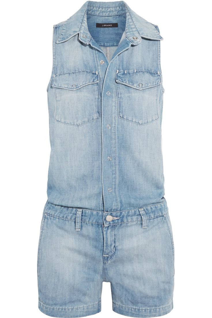 Shop on-sale J Brand Kayla denim playsuit. Browse other discount designer Jumpsuits & more on The Most Fashionable Fashion Outlet, THE OUTNET.COM