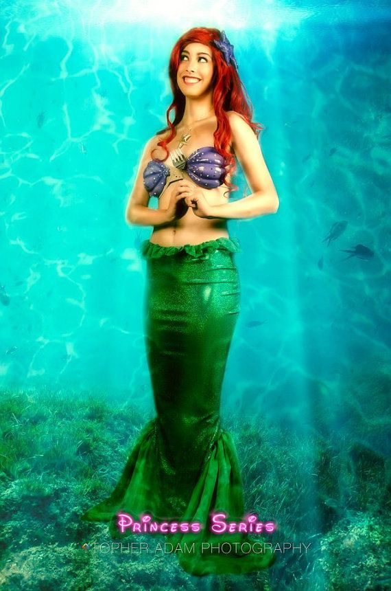 Ariel F Little Mermaid Costume Adult with Foam by BbeautyDesigns