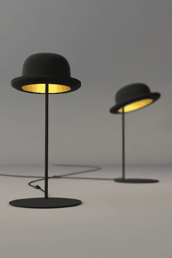 bowler hat lamp. jeeves and wooster table lights