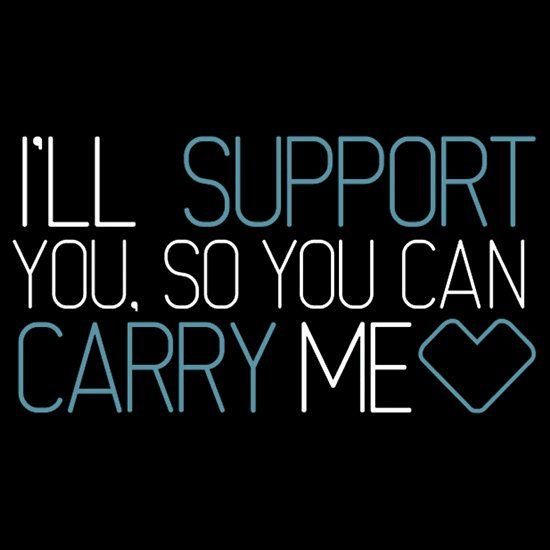 """I'll support"" T-Shirts & Hoodies by semperone 