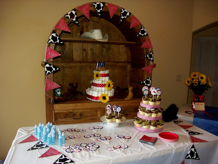 cowboy themed baby shower baby shower ideas pinterest