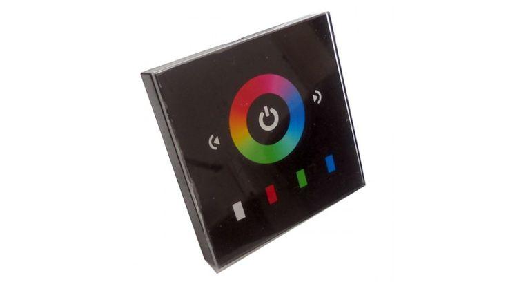 Led fali RGB vezérlő érintőképernyővel (144W) fekete,Led szalag vezérlők,8.490 Ft