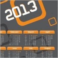Indonesia Calendar 2013 design vector