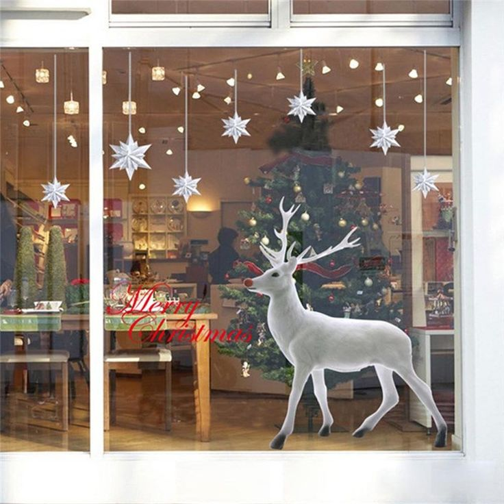 Delightful High Quality Christmas Deer Removable Wall Sticker //Price: $12.36 & FREE Shipping // #homesweethome #homedesign #myhome