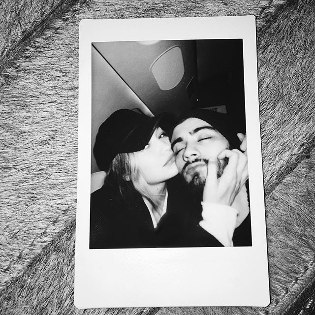 Pin for Later: Gigi and Zayn Brought Their Matching Style All the Way to London When They Both Rocked Slouchy Hats Gigi's had a little brim, while Zayn went with a classic beanie.