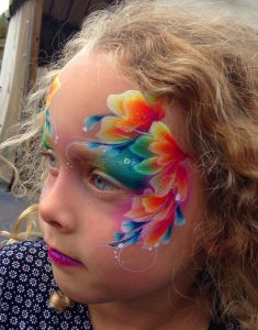 At city farm - childrens face art by Brierley Thorpe
