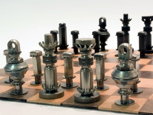Nuts Screw Ideas, Bolt Repurposed, Nut And Bolt Chess Sets, Altered ...