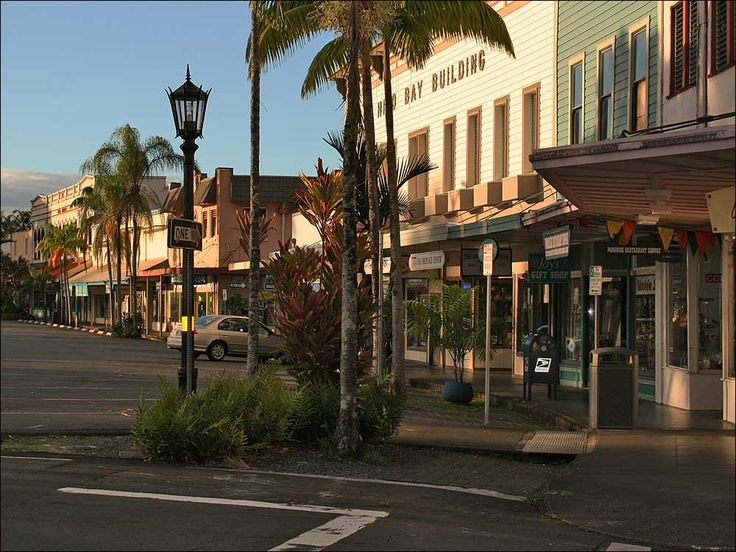 Downtown Hilo along Bay Front