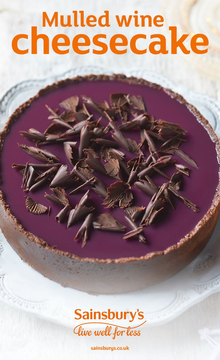 This cheesecake is a sure to be a Christmas winner. Dark chocolate and spiced mulled wine make for the perfect combination in this festive dessert.