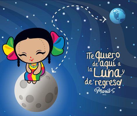 Diseño mexicano e ilustración: ¡Te quiero de aquí a la luna y de regreso!   Marías INC.