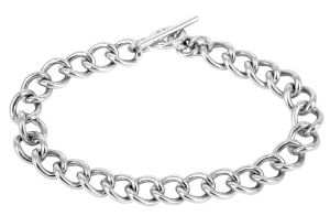Curb chain sterling silver bracelet