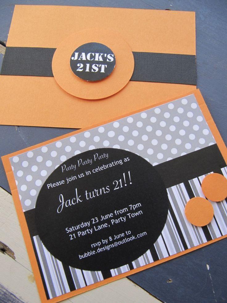 Handmade 21st Party Invitation-male