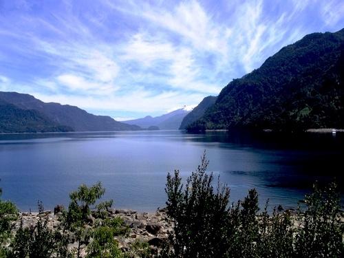 Lago Chapo, Region de los Lagos, en el sur de Chile