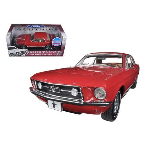 1967 Ford Mustang GT Red USA Exclusive Limited to 300pc 1/18 Diecast Car Model by Greenlight