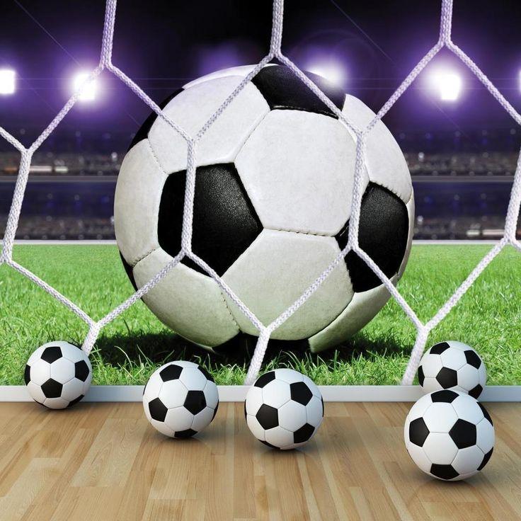 Voetbal papier Foto Muurprint Vlies Behang (155VE) | eBay