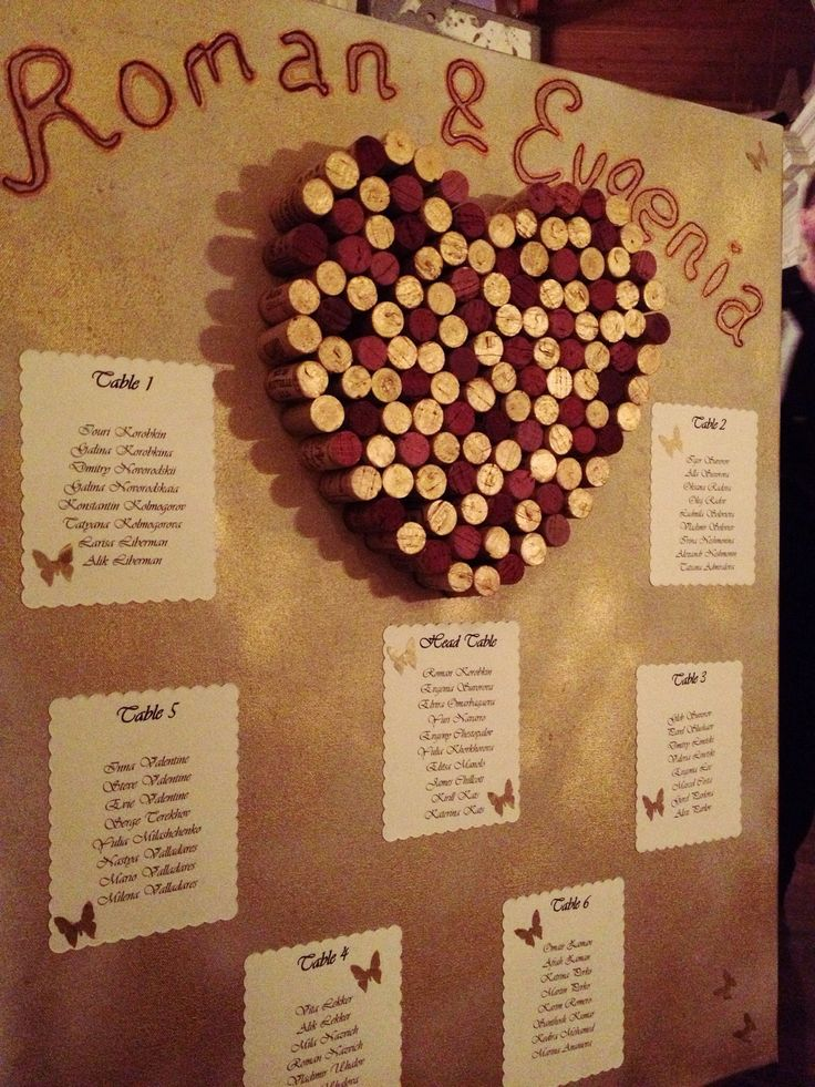 Our lucky couple, the wine lovers...can you tell? #seatingchart #corkheart  #weddings