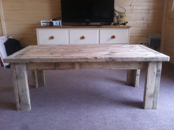 Reclaimed Wood Scaffold Board Coffee Table by jackpawsey on Etsy, £295.00
