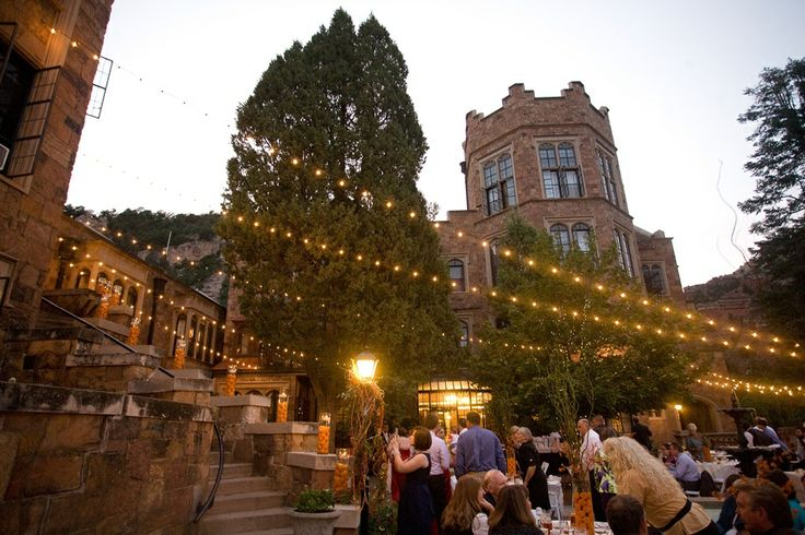 Glen Eyrie Castle At Night