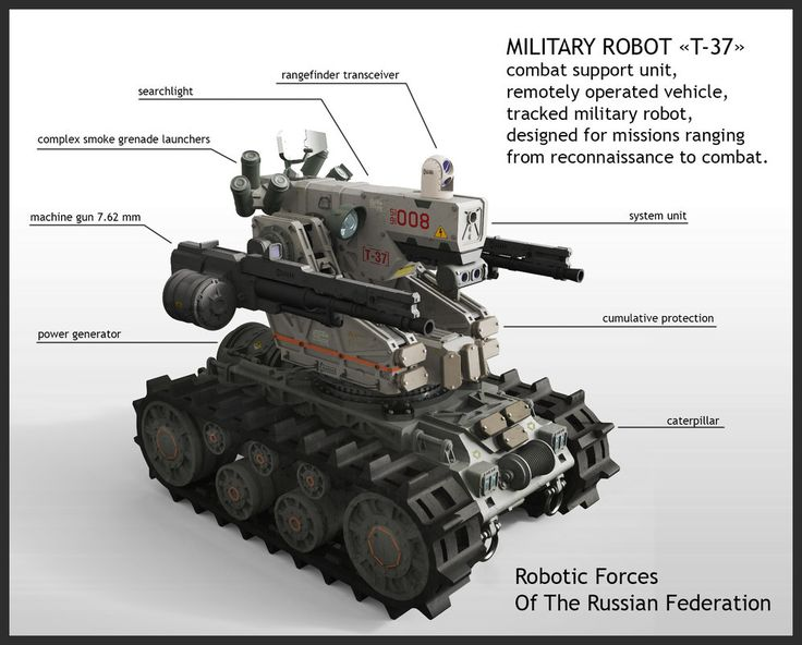 MILITARY ROBOT «T-37» combat support unit, remotely operated vehicle, tracked military robot, designed for missions ranging from reconnaissance to combat. for project:Mutant Overthrow: The Ba...
