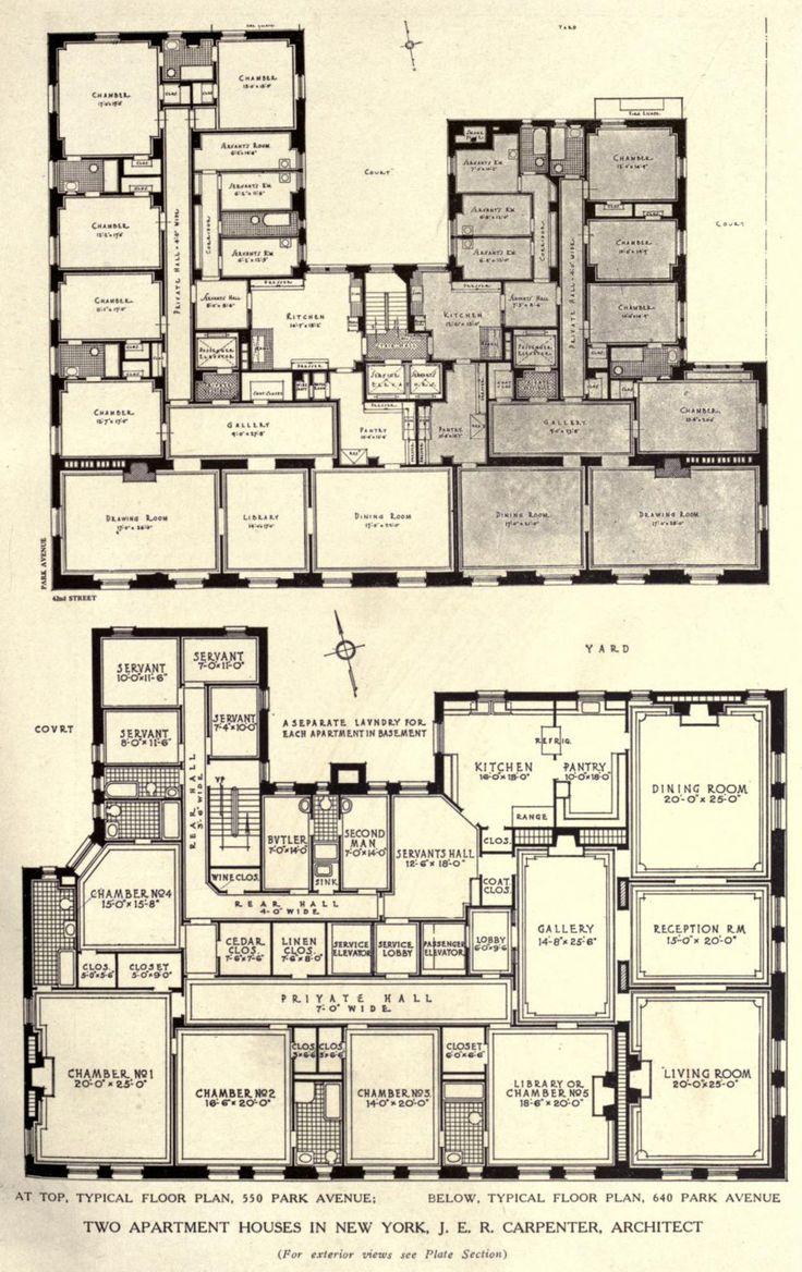 28 best x pre war floor plans images on pinterest penthouses 550 and 640 park avenue apartment plans manhattan new york usa