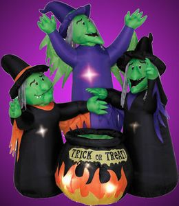 airblown inflatable halloween decorations moving airblown inflatable witches halloween yard decor