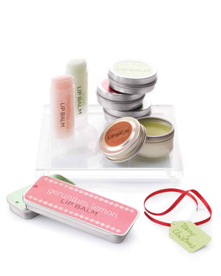 Lip Balms Homemade Christmas Gifts | Martha Stewart Living — Lip balm is the perfect gift to give during the wintry season when many suffer from chapped lips.
