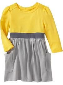 Color-Blocked Jersey Dresses for Baby