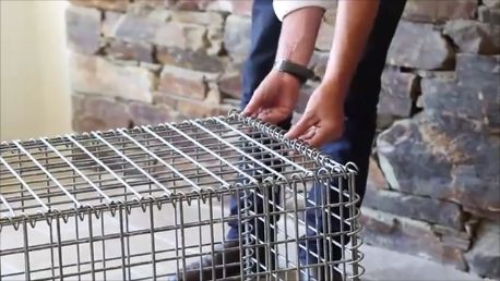 How to build a gabion basket.  More details available at www.gabionbasketsqueensland.com