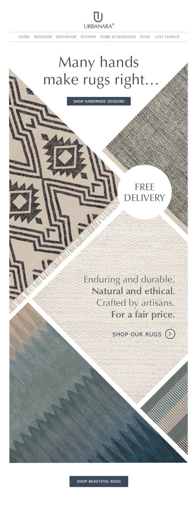 URBANARA newsletter template for rugs and runners. Follows us for tips and inspiration for your home decor, interior or fashion newsletters.