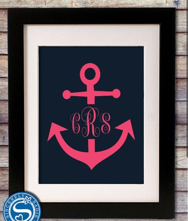 Monogrammed anchor picture