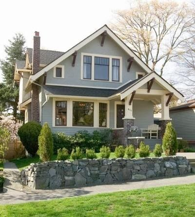 exterior color scheme - 1930's Craftsman Bungalow by queen